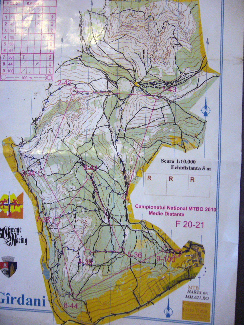 National Championship Orienteering with Mountain Bike 09-11.07.2010 - Baia Mare