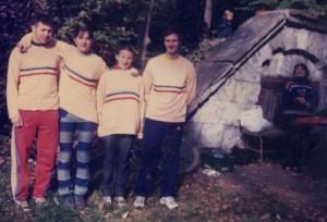 Primii campioni natonali la MTBO Racz Carol, Adela Racz, Melinda Nagy, Toth Zoltan